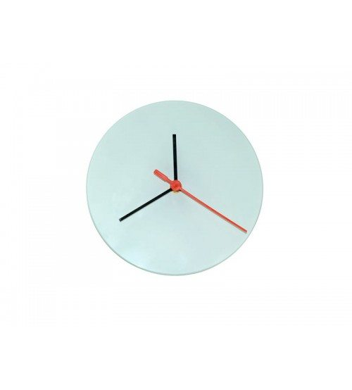 "8"" Glass Clock for Sublimation Printing (GCLOCK01)"