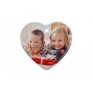 "3"" Heart Ornament With Hole W/ String (25pcs/Pack) H001"