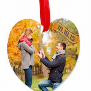 3″ Heart Ornament with Ribbon