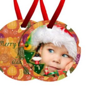 Christmas Ornament, Round-2 Sided