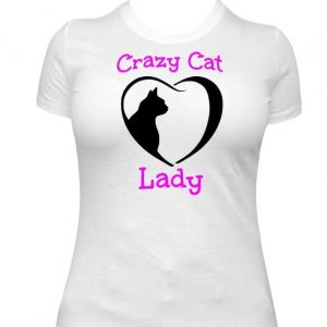 Crazy Cat Lady with Heart
